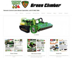 Green Climber Website home page