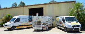 Service Vans and Tyre Press Truck