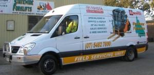 Statewide Forklift Service Vans